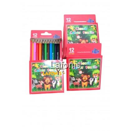 Classic Colors Pencils 12 Short