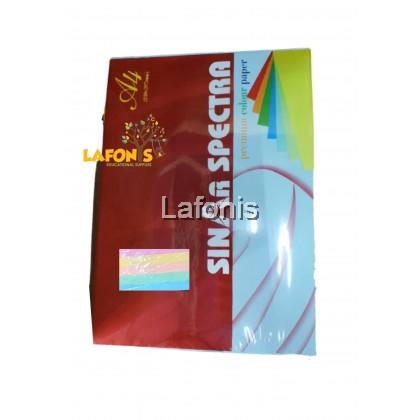 Sinar Spectra A4 Premium 2 Sheet Card Color Paper 450 sheets ( Rainbow 5 Light colors per pack)