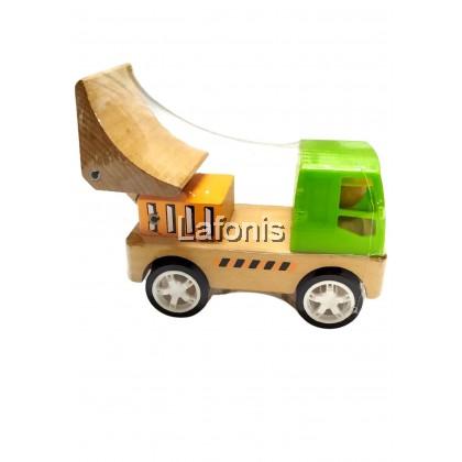 Wooden Green Car Big ( Truck)