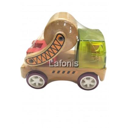 Wooden Green Car Big (Cement)