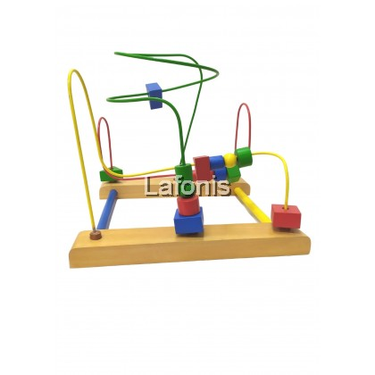 Wooden 3 Wire Game Maze(22.5*25*27cm)