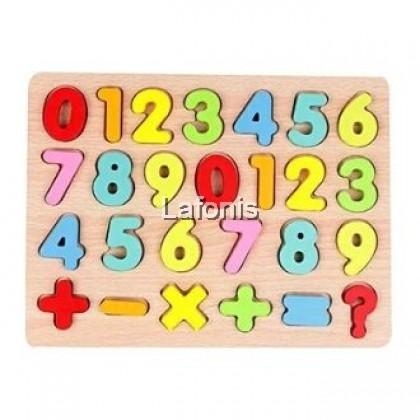 3D Wooden Puzzle Number(22.5*30*1cm)