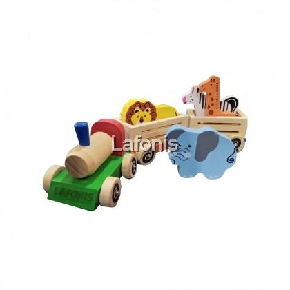 Wooden Animal Train set(40 x11.5 x 10 cm )