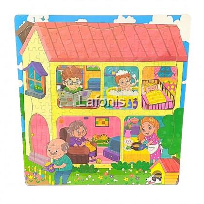 Big Jigsaw Puzzle 3-my family 196pcs (45*45*1cm)