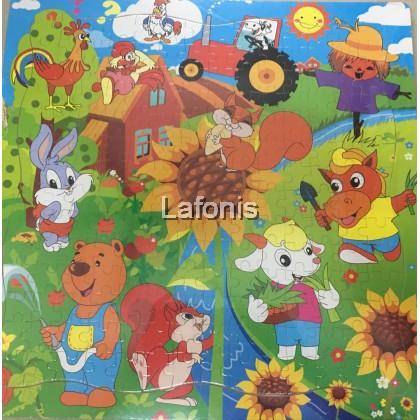 Big Jigsaw puzzle 5- Farm animals 196pcs (45*45*1cm)