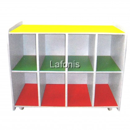Kids Book Shelf with Roller