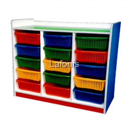 15 basket Manipulative Shelf